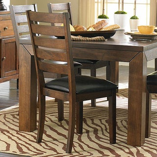 TRIBECCA HOME Luke Brown Side Chairs (Set of 2)