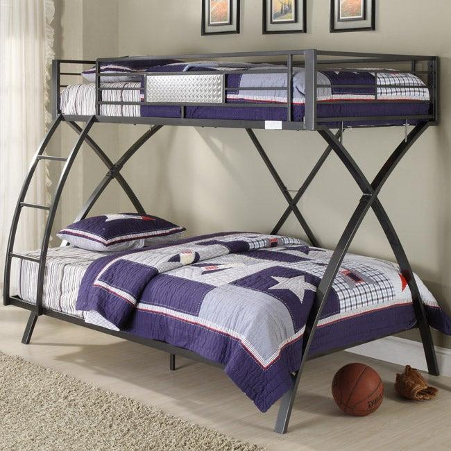 Carter Metal Twin Full Bunk Bed