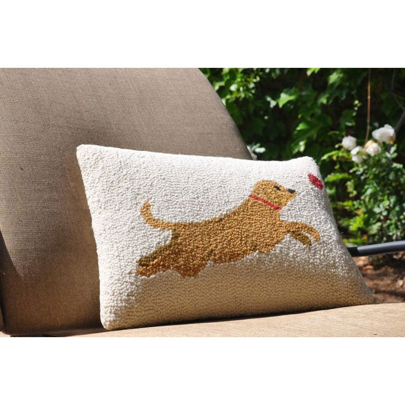 Decorative Pillow With Dog : Jumping Dog Wool Decorative Pillow - Overstock Shopping - Great Deals on Cottage Home Throw Pillows