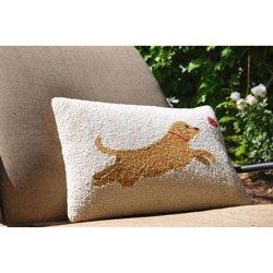 Jumping Dog Wool Decorative Pillow