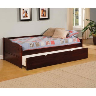 Furniture of America Bowiea Dark Cherry Daybed with Twin Trundle