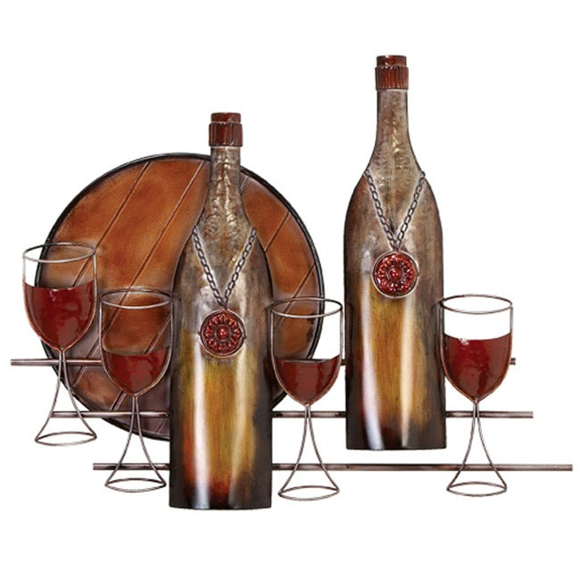 Bottles and Glasses Metal Wall Decor Overstock Shopping