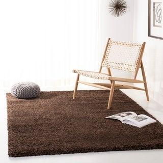 Safavieh Cozy Solid Brown Shag Rug (5'3 x 7'6)