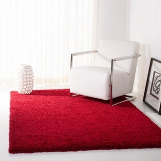 Safavieh Cozy Solid Red Shag Rug (4' x 6')