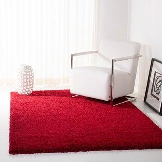 Safavieh Cozy Solid Red Shag Rug (8' x 10')