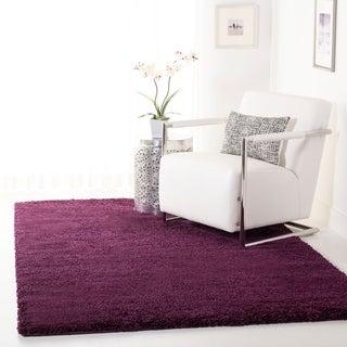 Safavieh Cozy Solid Purple Shag Rug (5'3 x 7'6)