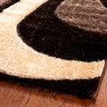 Safavieh Hand-woven Silken Embossed Brown Shag Rug (8' x 10')