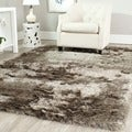 Safavieh Silken Sable Brown Shag Rug (5' x 7')