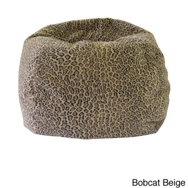 Gold Medal Jumbo Animal Print Round Bean Bag Chair