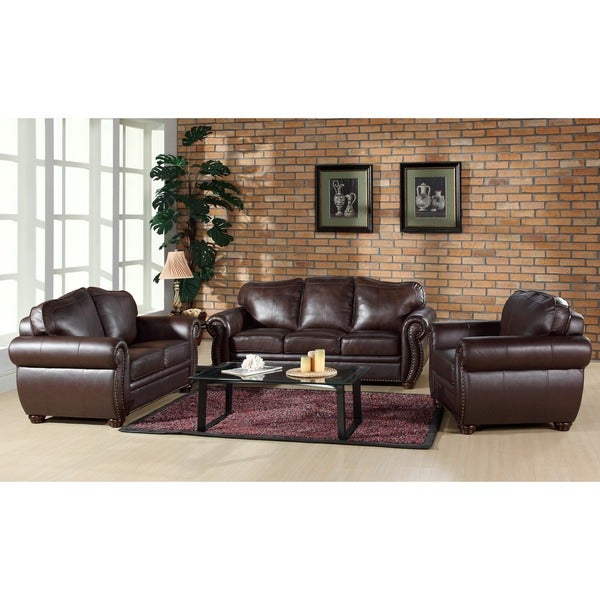 Leather Sofa Sets Online: ABBYSON LIVING Richfield Premium Top-grain Leather Sofa
