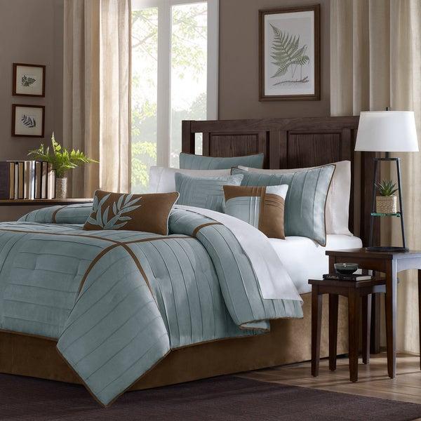 Madison Park Kirkwood Blue 7-piece Comforter Set