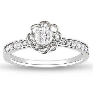 Miadora 14k White Gold 1/4ct TDW Diamond Ring (G-H, SI2)