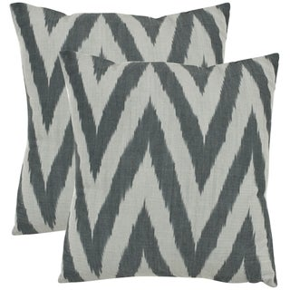 Safavieh Deco 18-inch Silver Decorative Pillows (Set of 2)