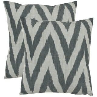 Safavieh Deco 22-inch Silver Decorative Pillows (Set of 2)