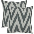 Safavieh Deco 22-inch Silver Decorative Pillows (Set of 2)