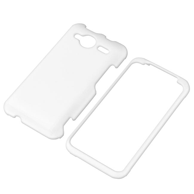 White Rubber Coated Case for HTC EVO Shift 4G