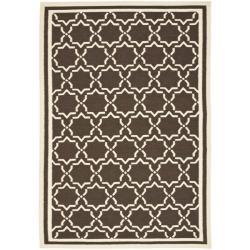 Safavieh Hand-woven Moroccan Reversible Dhurrie Chocolate/ Ivory Wool Rug (9' x 12')