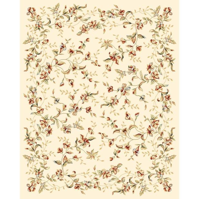 Safavieh Lyndhurst Collection Floral Beige Rug (9' x 12')