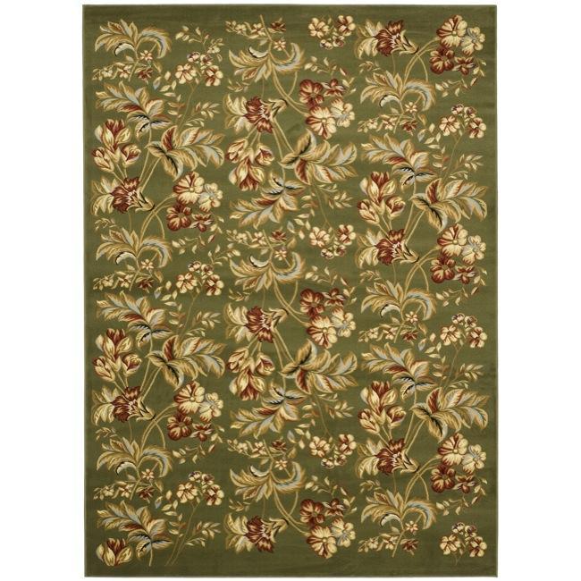 Safavieh Lyndhurst Collection Floral Sage Rug (9' x 12')