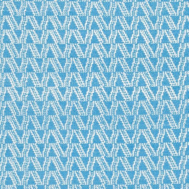 Handmade Thom Filicia Ackerman Summer Blue Rug (3' x 5')