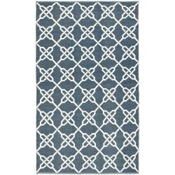 Handmade Thom Filicia Tioga Ink Blue Outdoor Rug (4' x 6')
