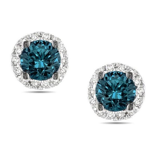 miadora 14k white gold 12ct tdw blue and white diamond