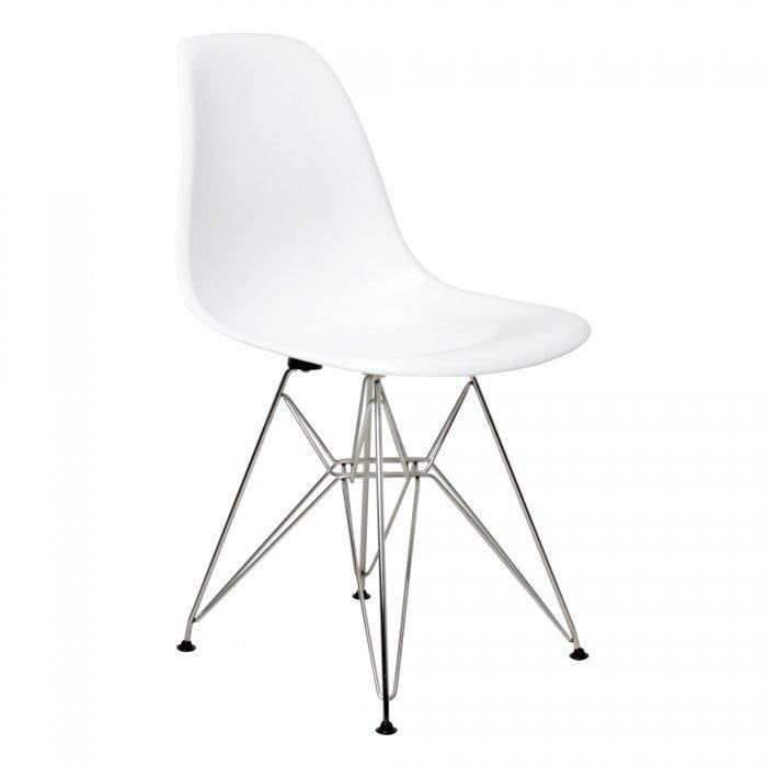 White WireLeg Dining Chairs (Set of 4)