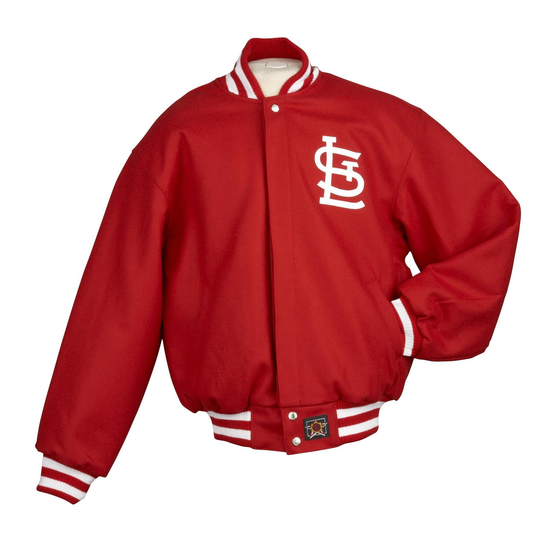 JH Designs Men's St. Louis Cardinals Domestic Wool Jacket