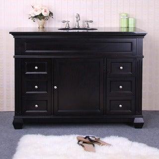 Granite Top 49-inch Single Sink Vanity
