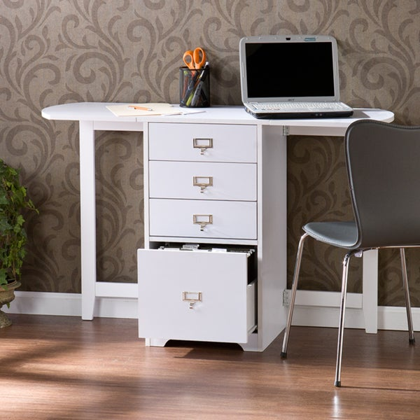 Upton Home London White Fold-out Organizer and Craft Desk