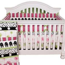 Girl's Cotton Tale Hottsie Dottsie 4-Piece Crib Bedding Set