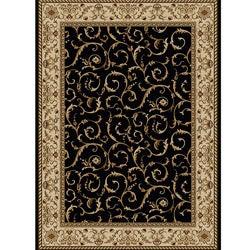 amalfi Oriental Black Rug (9'10 x 12'10)