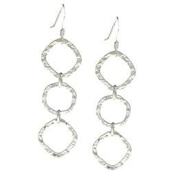 La Preciosa Sterling Silver Wavy Shape Earrings