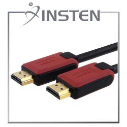 INSTEN 10-foot Red/ Black M/ M High Speed HDMI Cable with Ethernet