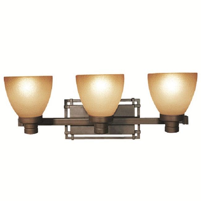 Woodbridge Lighting Wayman 3-light Bronze Bath Bar