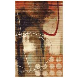 Sundance Abstract Beige Rug (8' x 10')
