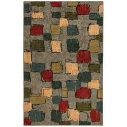 Night Vision Olive Green/ Grey Rug (8' x 10')