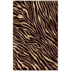 Watamu Beige/ Brown Animal Rug (5' x 8')