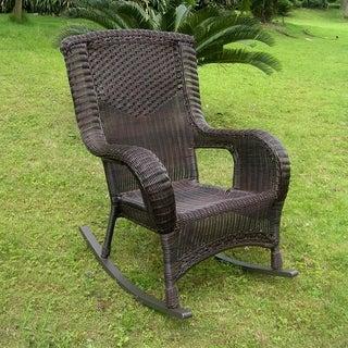 International Caravan Aluminum Frame Resin Weave San Tropez Rocker Chair