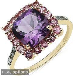 Malaika 10k Yellow Gold Multi-gemstone and Diamond Accent Ring