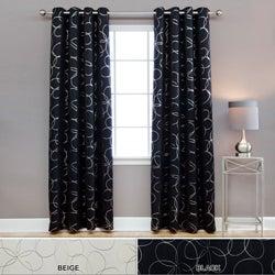 Lights Out Modern Foil 96-inch Blackout Grommet Curtain Pair