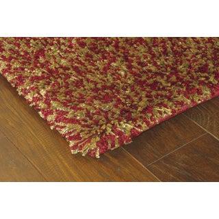 Manhattan Tweed Red/ Gold Shag Rug (5' x 8')