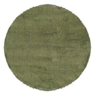 Manhattan Tweed Green/ Blue Shag Rug (8' Round)