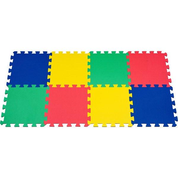 Multi-color 8-piece EVA Foam Exercise Mat Set