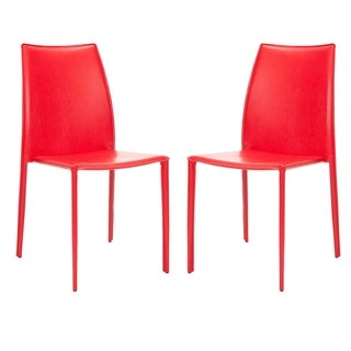 Safavieh Stackable Jazzy Vinyl Red Side Chairs (Set of 2)