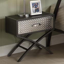 TRIBECCA HOME Carter Metal and Chrome X-frame End Table