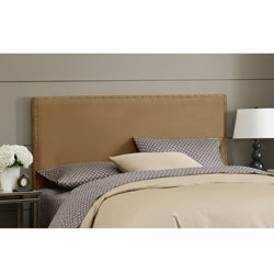 Made To Order Wrightwood King-size Khaki Micro-suede Nail Button Headboard
