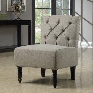 Lola Seashell Tufted Armless Chair