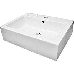 Somette Ceramic 18.25-inch White Vessel Sink