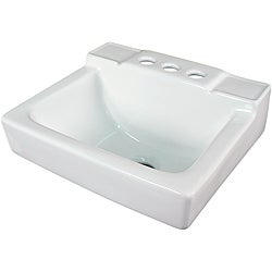 Somette Ceramic 14-inch Small White Wallmount Sink